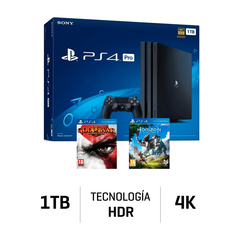 Ps4 Consola Play Station 4 Pro 1 Tb 4k 02 Juegos Juntoz Com
