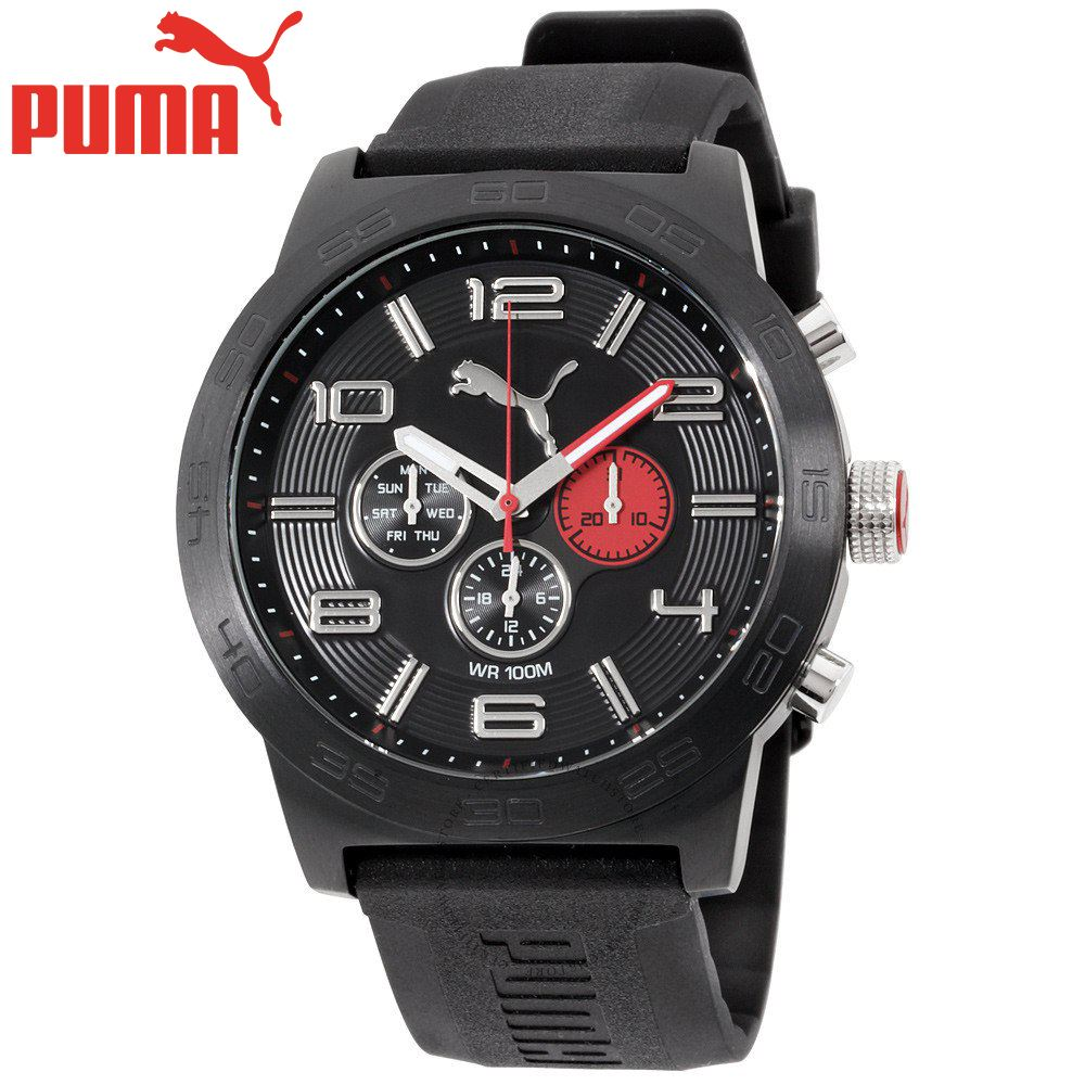 4bbf008e7 Reloj Puma Definition PU104221001 Acero Inoxidable Correa De Silicona Negro