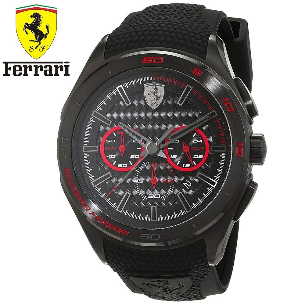 99c5ec896151 Reloj Ferrari Gran Premio 0830344 Acero Inox Correa Silicona - Negro Rojo