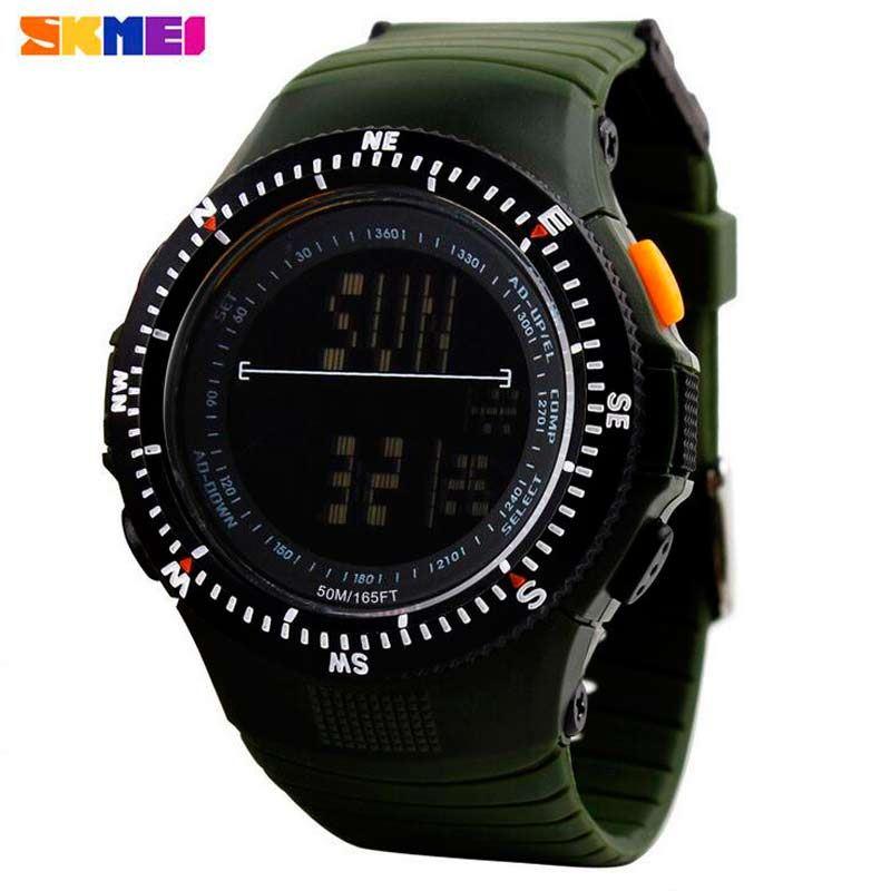 2e5ab68127a8 Reloj LED Multifunción Skmei 0989 Digital Deportivo Antigolpes Acuático  Militar