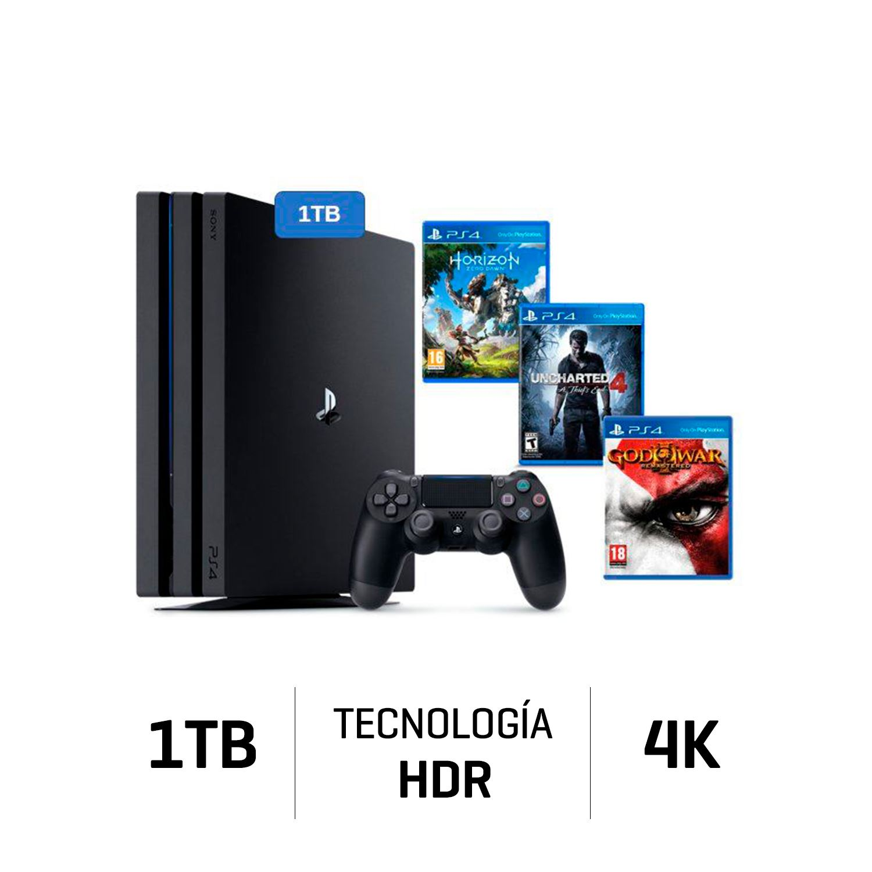 Consola Ps4 Pro Playstation 4 1tb 4k Negro 3 Juegos Juntoz Com
