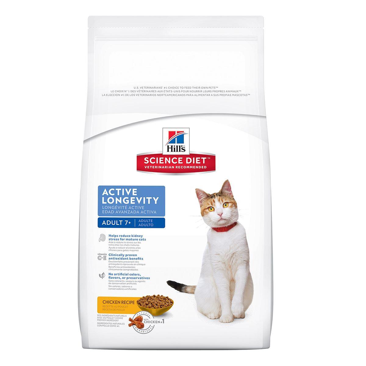 Comida Para Gatos Hills Feline Adult 7+ Active Longevity 7 Lb ...