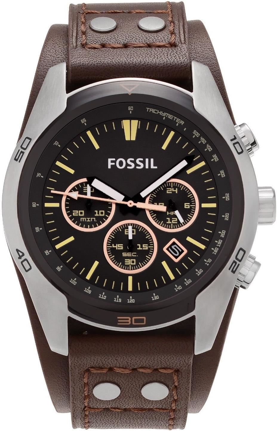 5a59f3531f6e Reloj Fossil Coachman CH2891 Cuero Analógico - Marrón y Negro ...