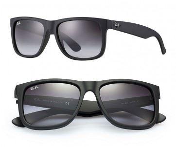 1447fc63df7ed Lentes De Sol Ray Ban Wayfarer Justin RB4165 601 8G Black Degrade Matte  54mm