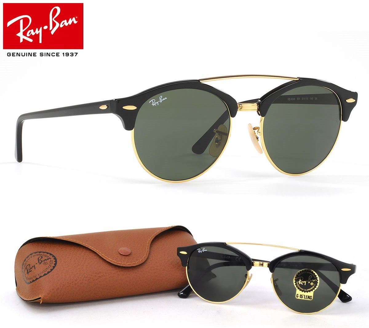 2d3fb9332e Lentes De Sol Ray Ban ClubRound RB4346 901 51mm